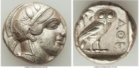 ATTICA. Athens. Ca. 440-404 BC. AR tetradrachm (24mm, 17.20 gm, 7h). XF. Mid-mass coinage issue. Head of Athena right, wearing crested Attic helmet or...