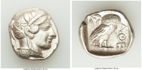 ATTICA. Athens. Ca. 440-404 BC. AR tetradrachm (26mm, 17.19 gm, 4h). Choice VF. Mid-mass coinage issue. Head of Athena right, wearing crested Attic he...