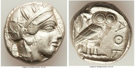 ATTICA. Athens. Ca. 440-404 BC. AR tetradrachm (23mm, 17.19 gm, 6h). Choice XF. Mid-mass coinage issue. Head of Athena right, wearing crested Attic he...