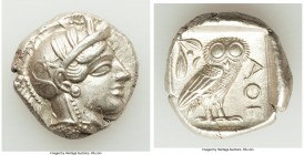 ATTICA. Athens. Ca. 440-404 BC. AR tetradrachm (25mm, 17.22 gm, 11h). Choice XF. Mid-mass coinage issue. Head of Athena right, wearing crested Attic h...