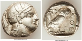 ATTICA. Athens. Ca. 440-404 BC. AR tetradrachm (24mm, 17.18 gm, 5h). Choice XF. Mid-mass coinage issue. Head of Athena right, wearing crested Attic he...