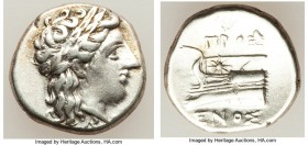 BITHYNIA. Cius. Ca. 350-300 BC. AR hemidrachm (14mm, 2.55 gm, 11h). Choice VF. Prosenus, magistrate. KIA, laureate head of Apollo right / ΠPOΣ/ ENOΣ, ...