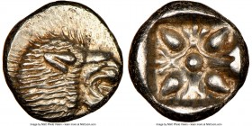 IONIA. Miletus. Ca. late 6th-5th centuries BC. AR 1/12 stater or obol (10mm, 1.20 gm). NGC MS 4/5 - 5/5. Milesian standard. Forepart of roaring lion r...