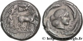 SICILY - SYRACUSE Type : Tétradrachme  Date : c. 480-475 AC.  Mint name / Town : Syracuse, Sicile  Metal : silver  Diameter : 24,5  mm Orientation die...
