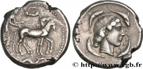SICILY - SYRACUSE Type : Tétradrachme  Date : c. 450-440 AC.  Mint name / Town : Syracuse, Sicile  Metal : silver  Diameter : 26,5  mm Orientation die...