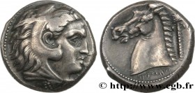 SICILY - SICULO-PUNIC - ENTELLA Type : Tétradrachme  Date : c. 325 AC.  Mint name / Town : Machanat (Le Camp), Entella  Metal : silver  Diameter : 23,...