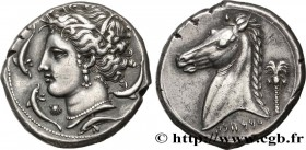 SICILY - SICULO-PUNIC - LILYBAION Type : Tétradrachme  Date : c. 340 AC.  Mint name / Town : Sicile, Lilybée  Metal : silver  Diameter : 26,5  mm Orie...