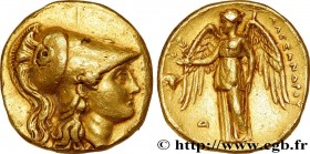 MACEDONIA - MACEDONIAN KINGDOM - ALEXANDER III THE GREAT Type : Statère d'or  Date : c. 332-323 AC.  Mint name / Town : Memphis, Égypte  Metal : gold ...