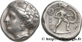 LOCRIS - OPUS Type : Statère  Date : c. 369-338 AC.  Mint name / Town : Oponte, Locride  Metal : silver  Diameter : 23  mm Orientation dies : 1  h. We...