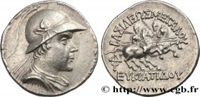 BACTRIA - BACTRIAN KINGDOM - EUCRATIDES I Type : Tétradrachme  Date : c. 150 AC.  Mint name / Town : atelier incertain  Metal : silver  Diameter : 29,...