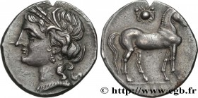 ZEUGITANA - CARTHAGE Type : Demi-shekel  Date : c. 220-210 AC.  Mint name / Town : Carthage, Zeugitane  Metal : silver  Diameter : 19  mm Orientation ...
