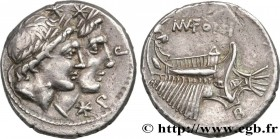 FONTEIA Type : Denier  Date : 108-107 AC.  Mint name / Town : Rome  Metal : silver  Millesimal fineness : 950  ‰ Diameter : 20  mm Orientation dies : ...
