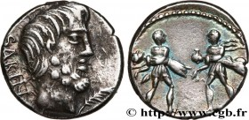 TITURIA Type : Denier  Date : 89 AC.  Mint name / Town : Rome  Metal : silver  Millesimal fineness : 950  ‰ Diameter : 16,5  mm Orientation dies : 7  ...