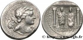 EGNATIA Type : Denier  Date : 75 AC.  Mint name / Town : Rome  Metal : silver  Millesimal fineness : 950  ‰ Diameter : 19  mm Orientation dies : 9  h....