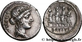 BRUTUS Type : Denier  Date : 54 AC.  Mint name / Town : Rome  Metal : silver  Millesimal fineness : 950  ‰ Diameter : 21  mm Orientation dies : 2  h. ...