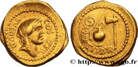 JULIUS CAESAR Type : Aureus  Date : 46 AC.  Mint name / Town : Rome  Metal : gold  Millesimal fineness : 1000  ‰ Diameter : 21  mm Orientation dies : ...
