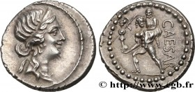 JULIUS CAESAR Type : Denier  Date : 47-46 AC.  Mint name / Town : Afrique  Metal : silver  Millesimal fineness : 950  ‰ Diameter : 18  mm Orientation ...