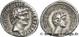 ANTONIUS and OCTAVIAN Type : Denier  Date : c. 41 AC.  Mint name / Town : Éphèse  Metal : silver  Millesimal fineness : 950  ‰ Diameter : 18,5  mm Ori...