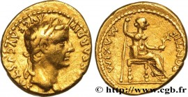 TIBERIUS Type : Aureus  Date : c. 22-25  Mint name / Town : Lyon  Metal : gold  Millesimal fineness : 1000  ‰ Diameter : 19,5  mm Orientation dies : 5...