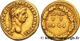 CLAUDIUS Type : Aureus  Date : 46  Mint name / Town : Lyon  Metal : gold  Millesimal fineness : + 1000  ‰ Diameter : 19  mm Orientation dies : 11  h. ...