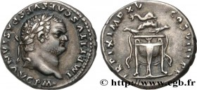 TITUS Type : Denier  Date : 80  Mint name / Town : Rome  Metal : silver  Diameter : 16,5  mm Orientation dies : 6  h. Weight : 3,49  g. Rarity : R2  O...