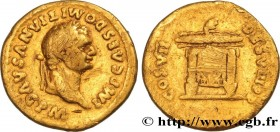 DOMITIANUS Type : Aureus  Date : 81  Mint name / Town : Rome  Metal : gold  Millesimal fineness : 1000  ‰ Diameter : 18,5  mm Orientation dies : 6  h....