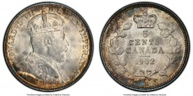 "Edward VII ""Large H"" 5 Cents 1902-H MS66 PCGS, Heaton mint, KM9. Large H variety. Hard to imagine a more appealing example, with full-bodied luster th..."
