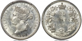 Victoria 25 Cents 1882-H MS63 PCGS, Heaton mint, KM5. A difficult date to obtain so fine, precisely struck and with solely insignificant contact marks...