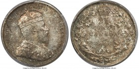 "Edward VII ""Large Crown"" 25 Cents 1906 MS65 PCGS, London mint, KM11. Large Crown Reverse variety. A rare find at the gem level, with exceptional color..."