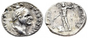 Vespasian AD 69-79. Rome,Denarius AR.19mm., 3,34g.nearly very fine