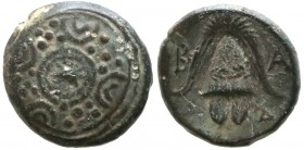 KINGS OF MACEDON. Alexander III 'the Great' (336-323 BC). Ae 1/2 Unit. Uncertain mint in Macedon.