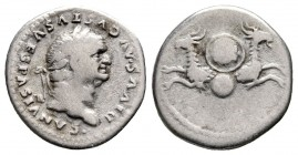 Divus Vespasianus Died AD 79. Rome,Denarius AR,18mm., 3,17g.nearly very fine