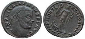 Licinius I (308-324). Æ Follis ( 3.8.g). Thessalonica, 312-313