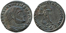 Licinius I Æ Follis. Thessalonica, AD 312-313. 3,3.g