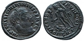 LICINIUS I, 308-324 AD. Silvered Æ Follis (3.2 gm), Nikomedia 317-20