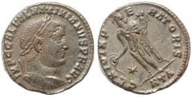 Maximianus. First reign, AD 286-305. Æ Follis (28.5mm, 7,2 g, 12h). Heraclea mint, 4th officina. Struck circa AD 297-298.