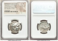 MACEDONIAN KINGDOM. Alexander III the Great (336-323 BC). AR tetradrachm (28mm, 17.20 gm, 9h). NGC Choice AU 4/5 - 4/5. Late lifetime or early posthum...