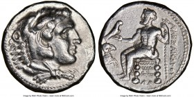 MACEDONIAN KINGDOM. Alexander III the Great (336-323 BC). AR tetradrachm (24mm, 12h). NGC Choice VF. Lifetime or early posthumous issue of Damascus, c...