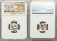 MACEDONIAN KINGDOM. Alexander III the Great (336-323 BC). AR drachm (17mm, 4.45 gm, 11h). NGC MS 4/5 - 5/5. Posthumous issue of Abydus, ca. 310-301 BC...