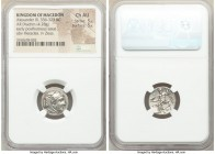 MACEDONIAN KINGDOM. Alexander III the Great (336-323 BC). AR drachm (15mm, 4.28 gm, 11h). NGC Choice AU 5/5 - 5/5. Early posthumous issue of Sardes, c...