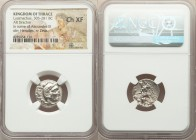 THRACIAN KINGDOM. Lysimachus (305-281 BC). AR drachm (17mm, 11h). NGC Choice XF. Posthumous Alexander type issue of 'Colophon', ca. 301/0-300/299 BC. ...