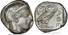 ATTICA. Athens. Ca. 440-404 BC. AR tetradrachm (23mm, 17.23 gm, 4h). NGC MS 4/5 - 3/5, brushed. Mid-mass coinage issue. Head of Athena right, wearing ...
