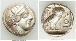 ATTICA. Athens. Ca. 440-404 BC. AR tetradrachm (24mm, 17.15 gm, 8h). VF. Mid-mass coinage issue. Head of Athena right, wearing crested Attic helmet or...