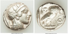 ATTICA. Athens. Ca. 440-404 BC. AR tetradrachm (23mm, 17.19 gm, 2h). VF. Mid-mass coinage issue. Head of Athena right, wearing crested Attic helmet or...