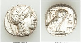 ATTICA. Athens. Ca. 440-404 BC. AR tetradrachm (23mm, 17.20 gm, 8h). XF. Mid-mass coinage issue. Head of Athena right, wearing crested Attic helmet or...
