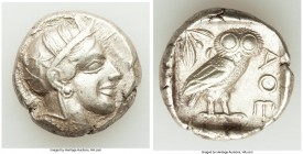 ATTICA. Athens. Ca. 440-404 BC. AR tetradrachm (24mm, 17.09 gm, 1h). Choice VF. Mid-mass coinage issue. Head of Athena right, wearing crested Attic he...
