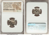 IONIA. Chios. Ca. early 3rd century BC. AR drachm (18mm, 3.45 gm, 8h). NGC Choice AU S 5/5 - 5/5. Posthumous issue in the name and types of Alexander ...