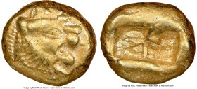 LYDIAN KINGDOM. Alyattes or Walwet (ca. 610-546 BC). EL third-stater or trite (13mm, 4.66 gm). NGC Choice XF 4/5 - 3/5, marks Uninscribed, Lydo-Milesi...