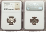 LYCIAN LEAGUE. Limyra. Ca. 167-81 BC. AR drachm (16mm, 12h). NGC AU. Series 1. Laureate head of Apollo right, hair falling in two ringlets / ΛΥΚΙΩΝ, c...