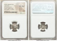 LYCIAN LEAGUE. Masicytes. Ca. 48-20 BC. AR hemidrachm (15mm, 1h). NGC Choice AU. Series 1. Laureate head of Apollo right; Λ-Y below / M-A, cithara (ly...